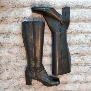 Nine West Zarras Tall Leather Square toe Boots